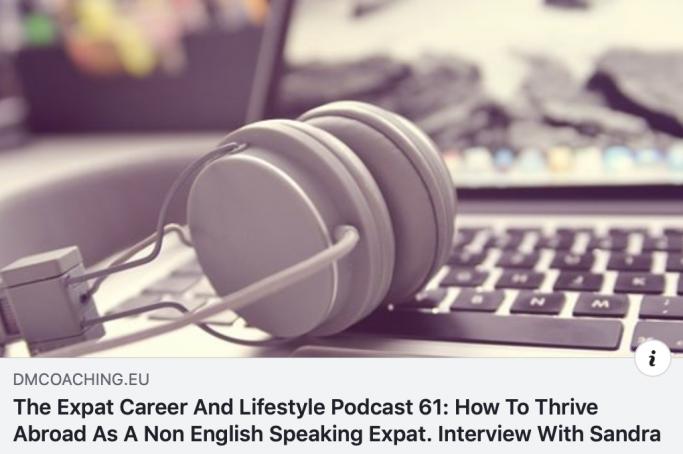 The Expat Career and Lifestyle Podcast 61: Prospere no exterior como uma expatriada que não fala inglês como primeira língua.